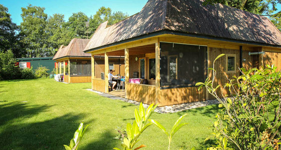 Glamping Lodge Top TV 6 pers